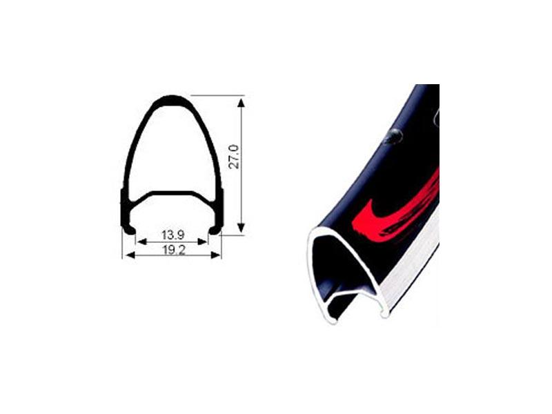 JALCO GX-460, 32H, 700C-cestovni, crni